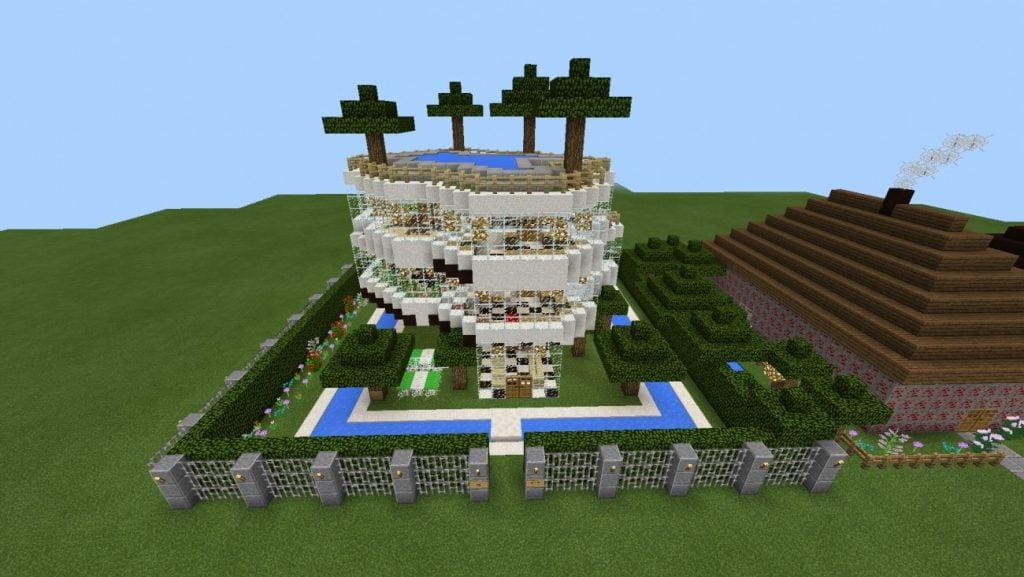 Villa in minecraft bauen minecraft for Bauideen minecraft