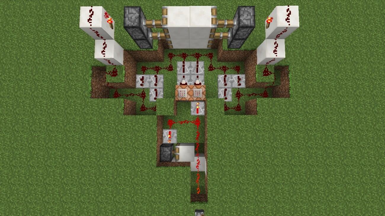 vollautomatische t r in minecraft bauen minecraft. Black Bedroom Furniture Sets. Home Design Ideas