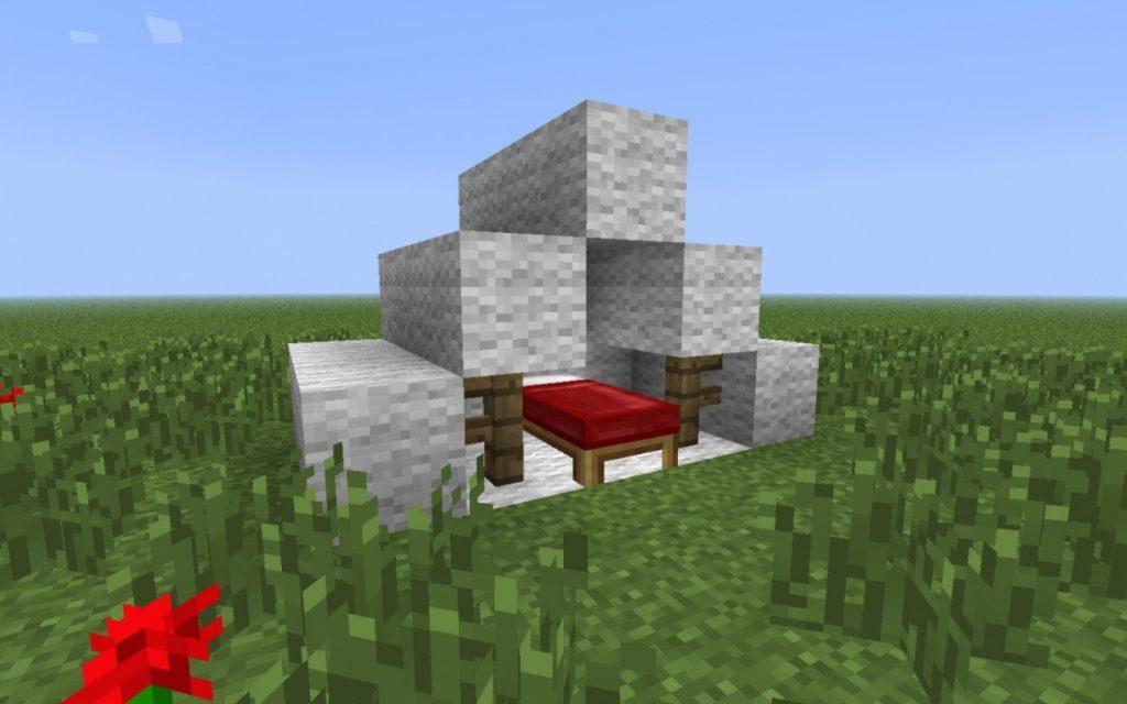 zelt in minecraft bauen minecraft. Black Bedroom Furniture Sets. Home Design Ideas
