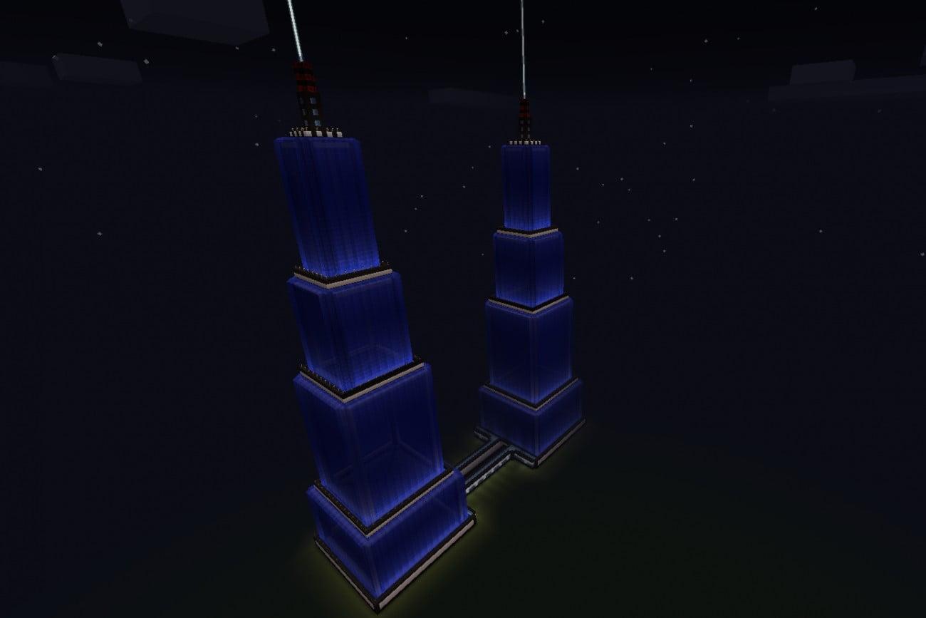 ᐅ Zwei WasserHochhäuser In Minecraft Bauen Minecraftbauideende - Minecraft hochhauser