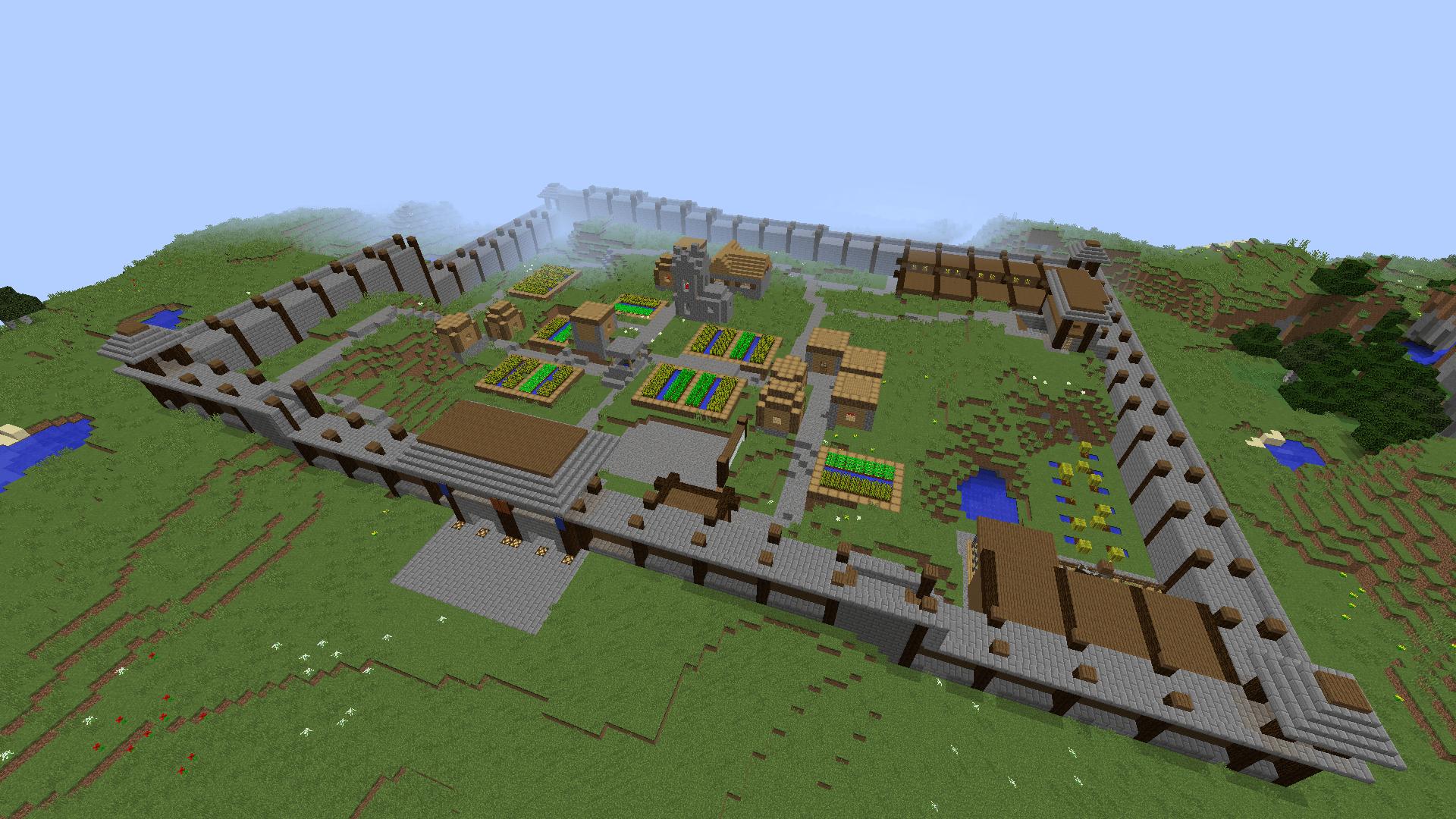 ᐅ Neuzeitliches Dorf Mit Mauer In Minecraft Bauen Minecraft
