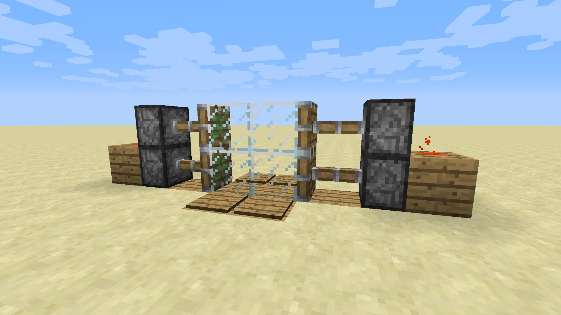 2x2 kolben t r in minecraft bauen minecraft. Black Bedroom Furniture Sets. Home Design Ideas