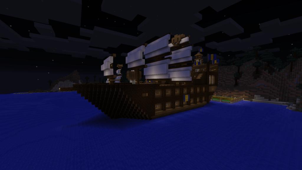 mittelalterliches schiff mit kabinen in minecraft bauen minecraft. Black Bedroom Furniture Sets. Home Design Ideas