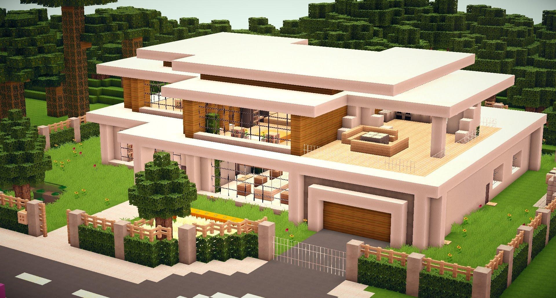 minecraft villa mit garten in minecraft bauen minecraft. Black Bedroom Furniture Sets. Home Design Ideas